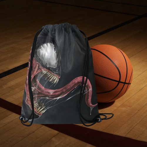 "Venom 5 Medium Drawstring Bag Model 1604 (Twin Sides) 13.8""(W) * 18.1""(H) - kdb solution"