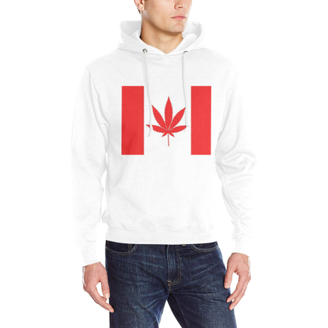 Canada Weed Flag Men's Classic Hoodie (Model H17) - kdb solution