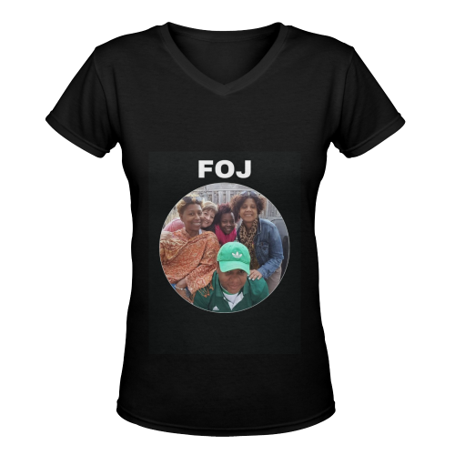 FOJ Women's Deep V-neck T-shirt (Model T19) - kdb solution