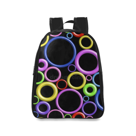 Circles School Backpack/Large (Model 1601) - kdb solution