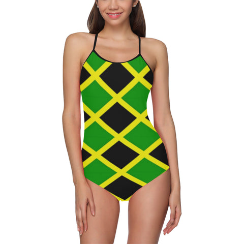 Jamaica Flag One Piece Swimsuit ( Model S05)