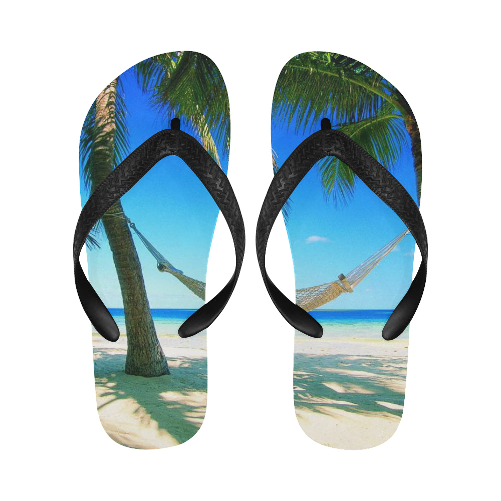 Beach scene Flip Flops for Men/Women (Model 040) - kdb solution