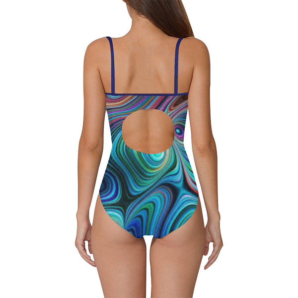 Blue Vibes One Piece Swimsuit ( Model S05) - kdb solution