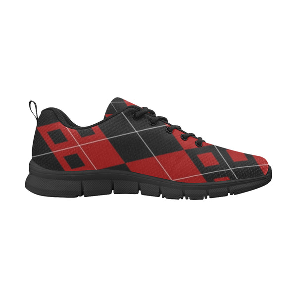 Red and Black Diamonds Women's Breathable Running Shoes (Model 055) - kdb solution