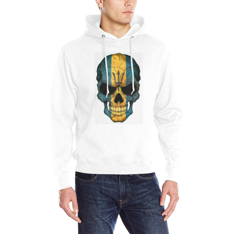 Barbados Skull Men's Classic Hoodie (Model H17) - kdb solution