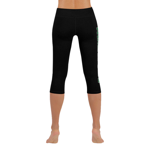 0ff7280424d40b ... Jamaica 1Logo Low Low Rise Capri Leggings (Invisible Stitch) (Model  L08) -