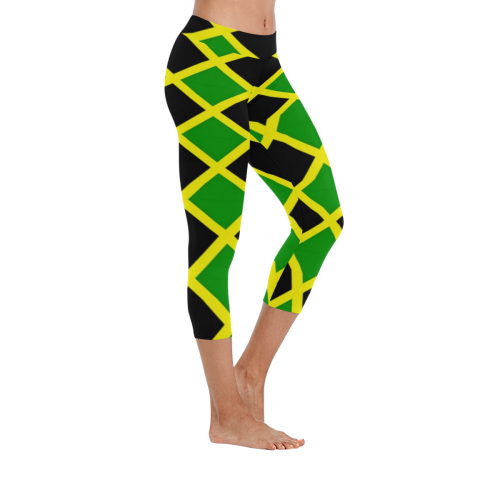 af4f49e551a1a9 Jamaica tile Low Rise Capri Leggings (Invisible Stitch) (Model L08) - kdb