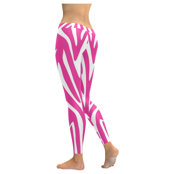 Pink and White Low Rise Leggings XXS-XXXXXL - kdb solution