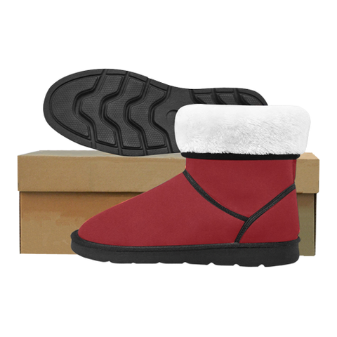 Red Custom High Top Unisex Snow Boots (Model 047) - kdb solution