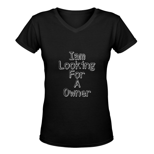 I am looking for a Owner Women's Deep V-neck T-shirt (Model T19) - kdb solution