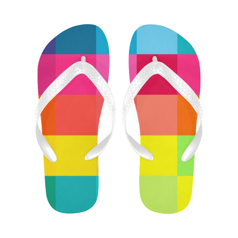 Box Colours Flip Flops for Men/Women (Model 040) - kdb solution