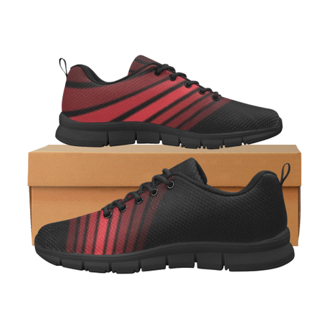KDB Torsion Red and Black Men's Breathable Running Shoes (Model 055)