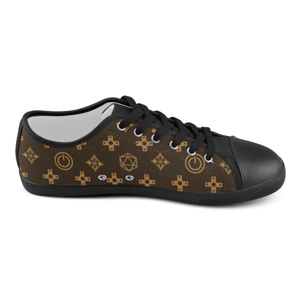 Louis Vuitton Pattern Women's Canvas Shoes (Model 016) - kdb solution