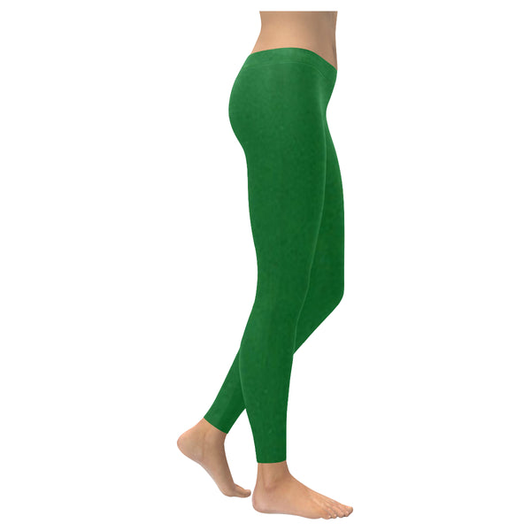 Green Low Rise Leggings (Invisible Stitch) (Model L05) XXS-XXXXXL - kdb solution
