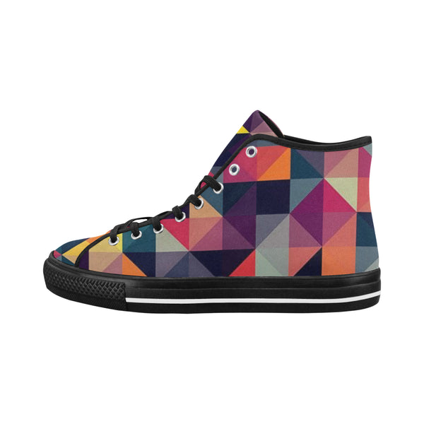 Women's  Checkered Colored High Top Canvas Shoes  [product_title]#039;s - kdb solution