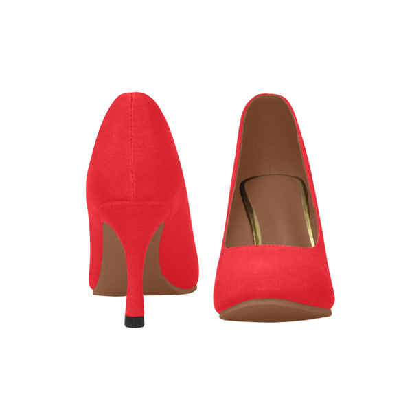 Red Women's High Heels (Model 048) - kdb solution