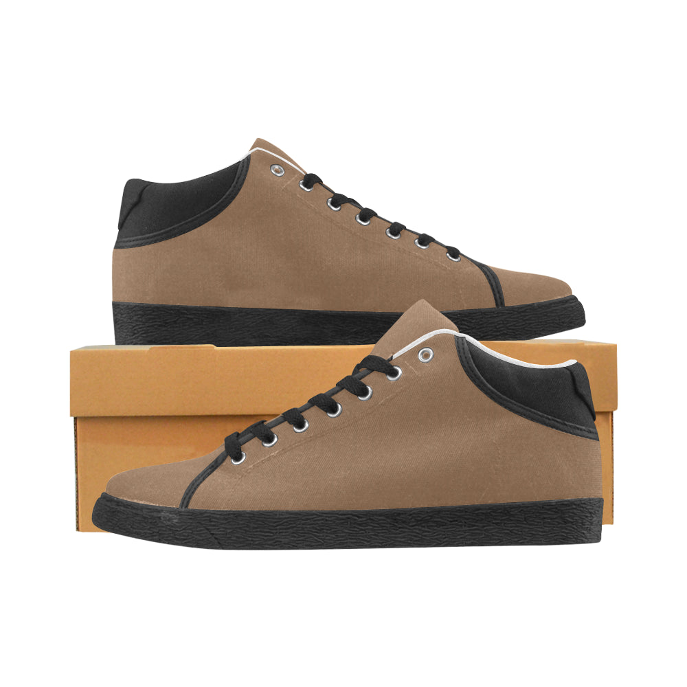 Tan Men's Chukka Canvas Shoes (Model 003) - kdb solution