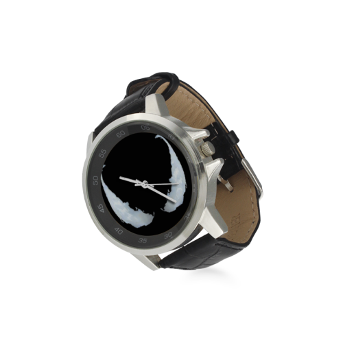 Venom 4 Unisex Stainless Steel Leather Strap Watch(Model 202) - kdb solution