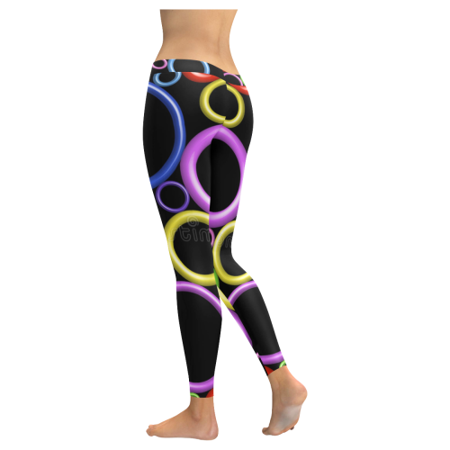 Circles Low Rise Leggings (Invisible Stitch) (Model L05) - kdb solution