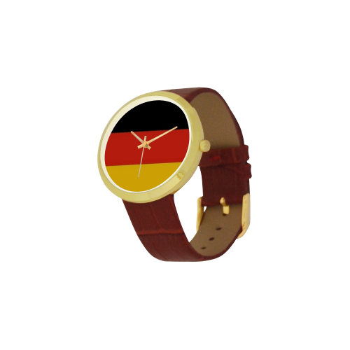 Germany Women's Golden Leather Strap Watch(Model 212) - kdb solution