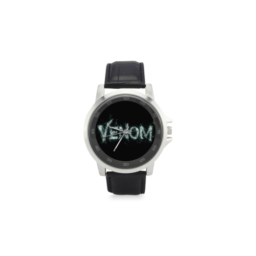 Venom Unisex Stainless Steel Leather Strap Watch(Model 202) - kdb solution
