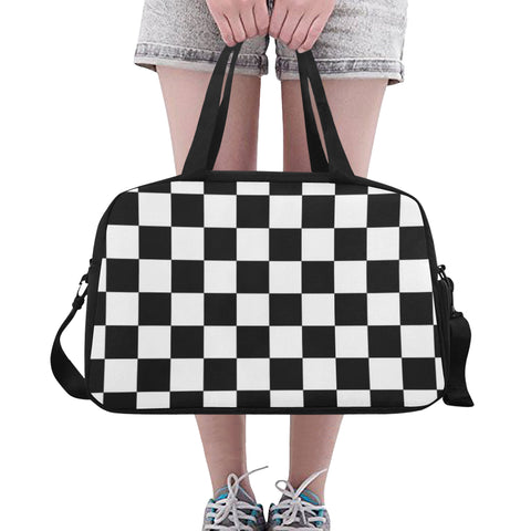 Checkered Pattern Fitness/Overnight bag (Model 1671) - kdb solution