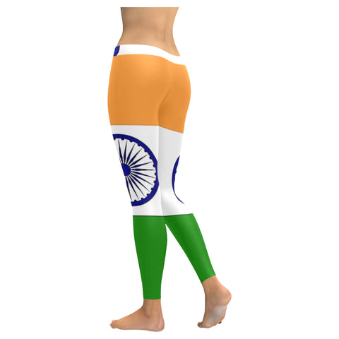 Indian Flag Low Rise Leggings (Invisible Stitch) (Model L05) - kdb solution