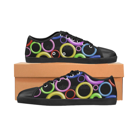 Circles Women's Canvas Shoes (Model 016) - kdb solution