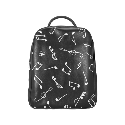 Music Notes Black Popular Backpack (Model 1622) - kdb solution
