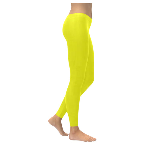 Bright Yellow Low Rise Leggings (Invisible Stitch) (Model L05) - kdb solution