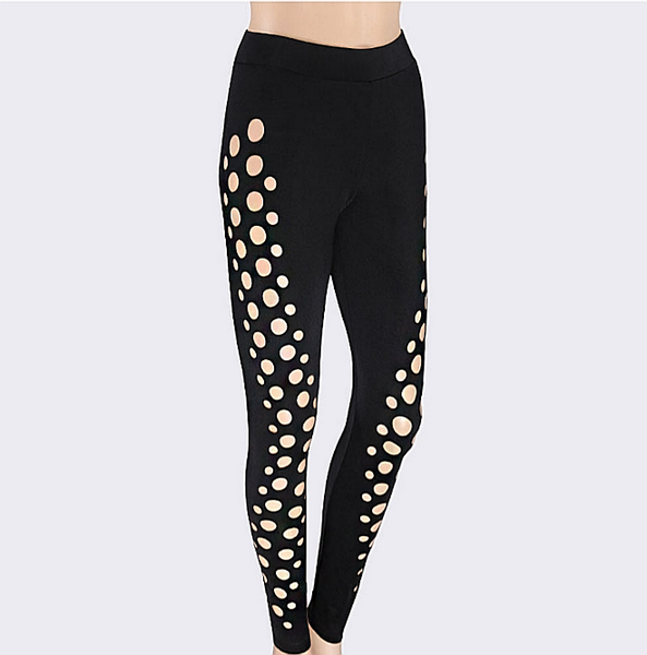 Women's Hollow Sports Yoga Workout Gym Fitness Leggings Pants Athletic Clothes - kdb solution