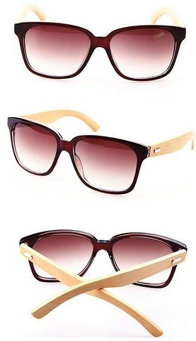 Bamboo Wood Sunglasses Brown / Black / Leopard Sunglasses - kdb solution