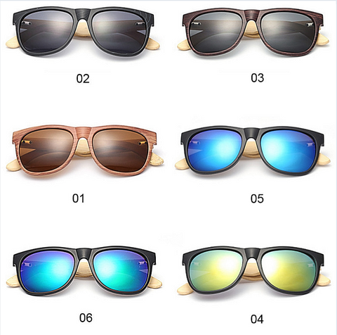 Bamboo Wooden Mirror Sunglasses 6 colours - kdb solution