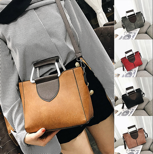 Women's Fashion Smolid Color Leather Shoulder Bags With Corssbody Bag&Handbag - kdb solution
