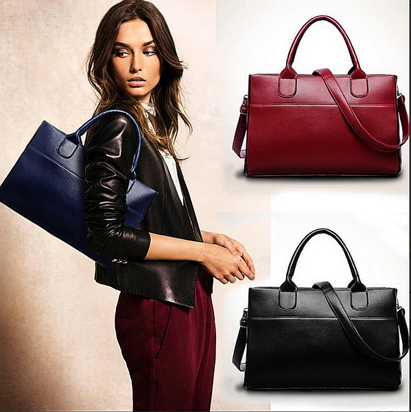 Women Red or Black Leather Crossbody fashion bags - kdb solution