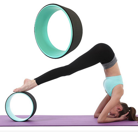 ABS Yoga Wheel Pilates Magic Circle Yoga Ring Home Slimming Fitness Equipment for Waist Shaping - kdb solution