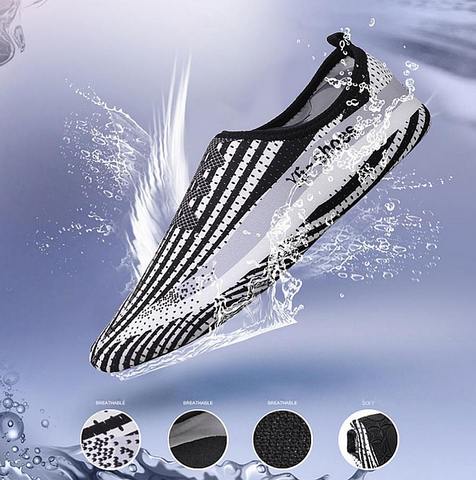 1 Pair Men/Women Beach Shoes Outdoor Swimming Aqua Shoes Water Adult Unisex Flat Soft Seaside Shoes Walking Lover yoga Shoes #E0 - kdb solution