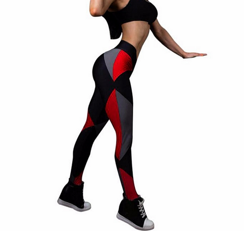 Colorful running tights for women Compression Mid Waist - kdb solution