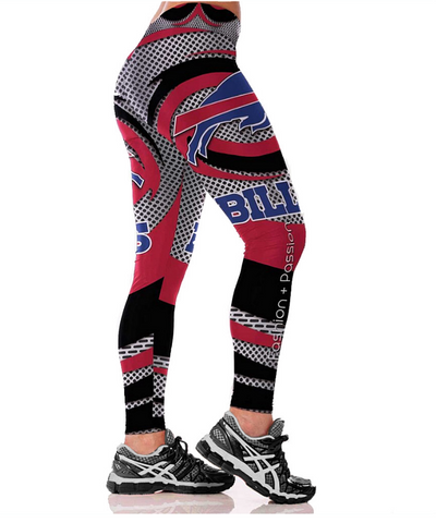 High Waist Fashion Women 3D Buffalo Bills print comfortable fitness pants - kdb solution