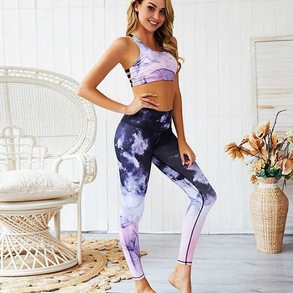 Two piece yoga set available in SML - kdb solution