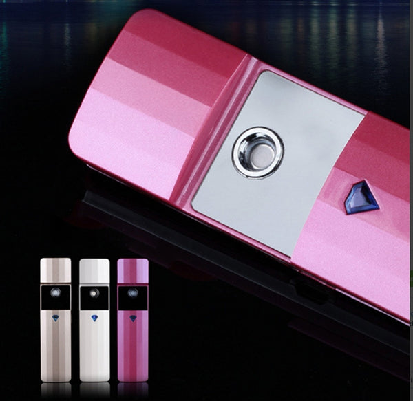 Portable Nano Spray Mist Facial Steamer Usb Rechargeable Face Moisturize Hydrating Sprayer - kdb solution