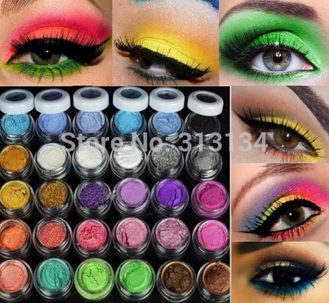 30 Colors Powder Mineral Eyeshadow Pigment Makeup Set - kdb solution