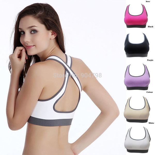 1 PCS Women Padded Top Athletic Sports Bra Stretch Cotton Seamless Free Shipping - kdb solution