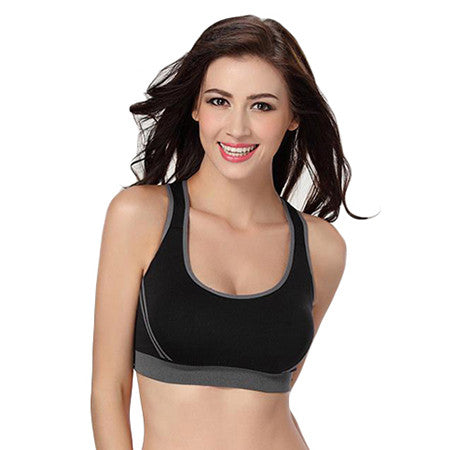 Hot! Himanjie Women Padded Tank Top Athletic Vest Gym Fitness Sports Bra Stretch Cotton Seamless popular Yoga Bras Drop Shipping - kdb solution