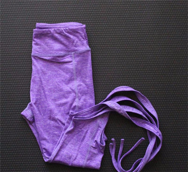 2017 Women Yoga Pants Sport Leggings Fitness Cross Yoga High Waist Ballet Dance Tight Bandage Yoga Cropped Pants Sportswear NOTE* Please allow 2-3 weeks for Delivery - kdb solution