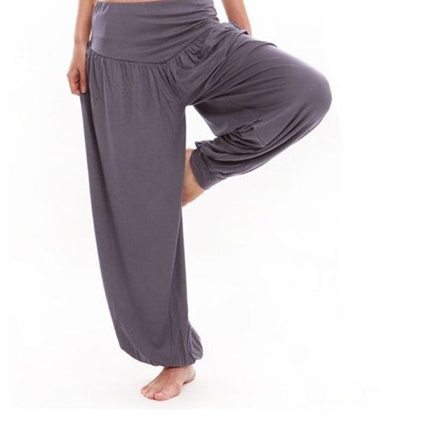 Casual Women Pleated Capris Solid Loose Bloomers Wide Leg Pants, Fitness Dance Wears Capri Trousers For Women Plus Size TL44 Note: Please allow 2-3 weeks for delivery - kdb solution