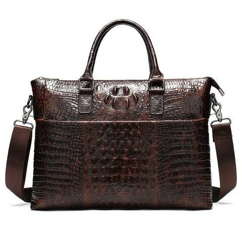 MVA Male Genuine leather crocodile pattern shoulder bag - kdb solution