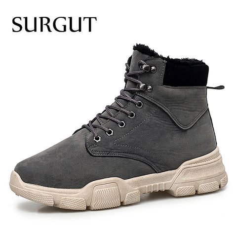 SURGUT Men's winter Boots Waterproof Ankle Boots Size 39-45 - kdb solution