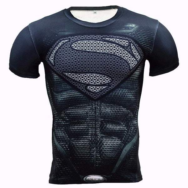New 3D Winter Soldier Avengers 3 Compression Shirt Men Summer Long Sleeve Fitness Crossfit T Shirts Male Clothing Tight Tops - kdb solution