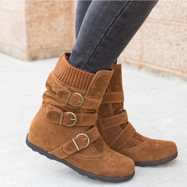 Ankle women Warm Fashion Winter boots available  in Plus Sizes - kdb solution
